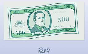 how much is a 500 bill worth today