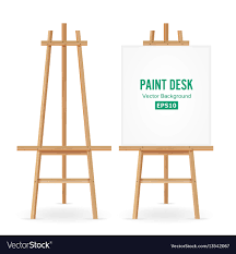 drawing engaging paint easel set 25 desk artist with white vector 13542067 art easel paint set