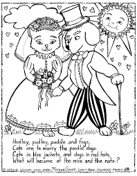 Small Picture Cats are to Marry the Poodle Dogs Coloring Page a free Mother