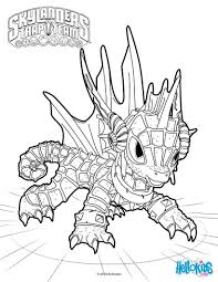 Coloring Pages Echoloring Page From Skylanders Trap Team Sheets