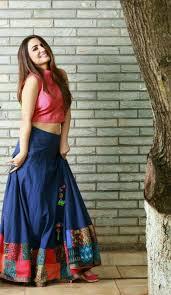 Designer Long Skirt Dresses Blue Long Skirt And Pink Top Long Skirt Top Long Skirt