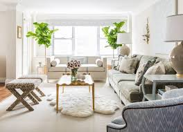 awesome ideas pristine ways to design with white living room furniture white furry rug coffee table gray sofa table lamp plants white wall