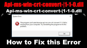 Steam Api64 Dll Is Either Not Designed How Fix Api Ms Win Crt Convert L1 1 0 Dll File Missing Error