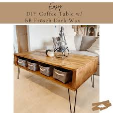 Behold these stylish coffee tables you can make yourself. Easy Diy Coffee Table With Dark Wax