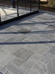 Paving Slabs Patio Design Kandla Grey Indian Sandstone Paving Slabs Mix Size Patio