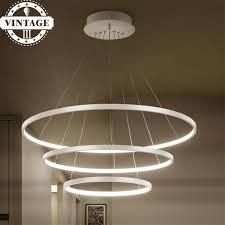 decorative pendant lighting. 3 Circle Rings 40CM 60CM 80CM Simple Decorative Pendant Lights For Living  Room Acrylic Aluminum Body Decorative Lighting