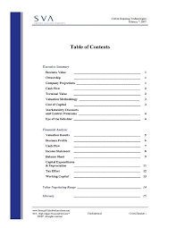 Business Report Table Of Contents Template – Kensee.co