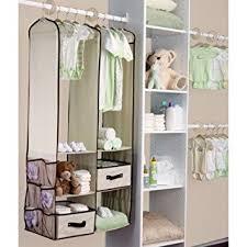 Amazoncom Beige Baby Nursery Hanging Closet Storage Organizer Bin