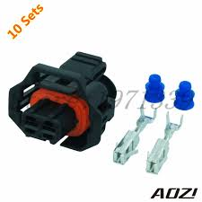 ten sets automotive wiring harness plastic connector for car part automotive electrical connectors types at Car Wiring Connectors