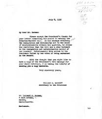 Letter from Bernard S. Gurman to President Harry S. Truman with a ...