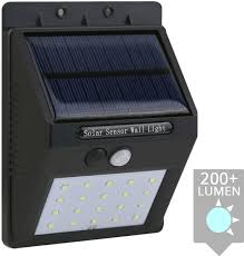 Solar Wandlamp Motion Met Bewegingsmelder Op Zonne Energie