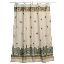 com bacova guild pine cone branches shower curtain and the bath rugs bacova lodge bathroom