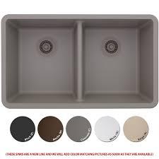 lexicon platinum quartz composite kitchen sink large double bowl lp 5050 concrete com