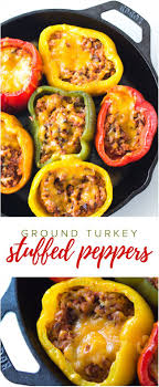 easy home cooked dinner ideas. ground turkey stuffed peppers recipe - this no-fuss is the perfect · easy family dinner recipeseasy home cooked ideas r