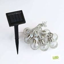 integrated led clear le glass ball string light set