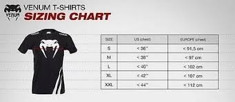 Venum Shorts Size Chart Venum Mens T Shirt Shogun Supremacy Mauricio Rua Fight Bjj