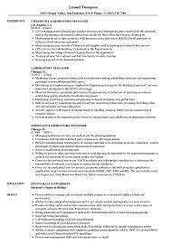 Laboratory Manager Resume Samples | Velvet Jobs