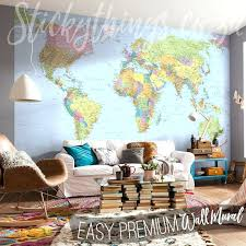 world map wallpaper mural giant world map wallpaper in a lounge world map wall mural uk