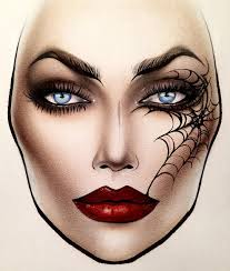 Mac Cosmetics Halloween Face Charts Pin By Traces_of_lightphoto On __ Mac_face Chart_art __