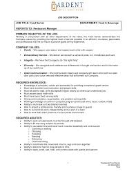 Hotel Operations Manager Resume Example Front Desk Objective