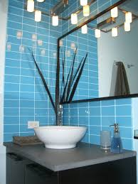 blue tiles. Lush Sky 3x6 Blue Glass Subway Tile Bathroom Corner Wall Installation Tiles E