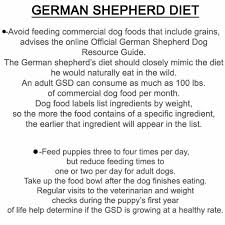Bethebest3 German Shepherd Diet Diet And Useful Summary