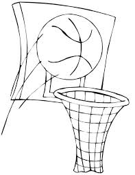 Small Picture Basketball and Basket in NBA Coloring Page Color Luna
