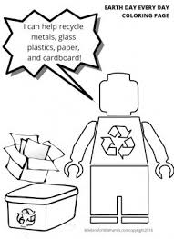 Recycling is the process of converting waste materials into new materials and objects. Lego Earth Coloring Pages Little Bins For Little Hands