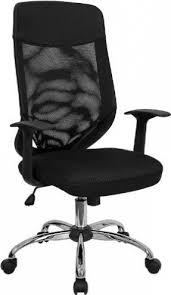 high back mesh office chair with leather effect headrest. flash furniture lf-w952-gg high back mesh office chair with fabric seat leather effect headrest l
