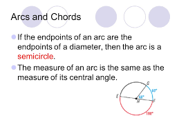 arcs and s if the endpoints of an arc are the endpoints of a diameter