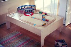 12 wooden train table for kids photos