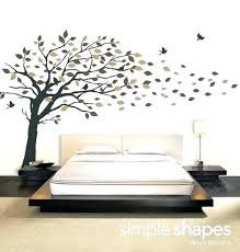 tree wall art decals vinyl decal sticker blowing leaves large palm on vinyl wall art decals trees with tree wall art decals frivgame