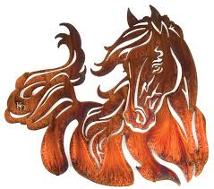 windy small horse in the wind with mane and tail blowing 19 1 4 h x 21 1 2 w in honey pinion only