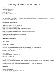 Truck Driver Resume Objectives Driver Resume Objective Examples Company Sample Print Elegant 24