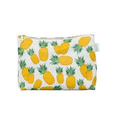 personalized pineapple makeup bag