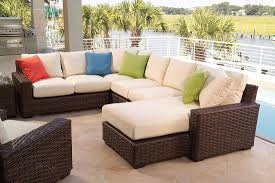 image modern wicker patio furniture. dark brown and cream rectangle modern rattan wicker patio furniture sets clearance stained ideas image e