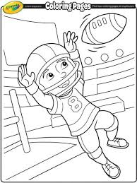 Crayola Colouring Pages Football Coloring Page Free Coloring Pages