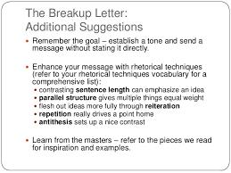 Breakup Letters Breakup Letter