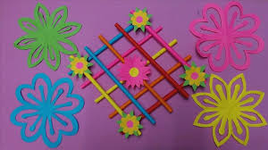 Color Paper Flower Design How To Make Wall Hanging Decoration With Color Paper Paper