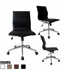 eames ribbed chair tan office. 2xhome Black Contemporary Modern Ergonomic Executive Mid Back PU Leather No Arms Rest Tilt Adjustable Height Eames Ribbed Chair Tan Office