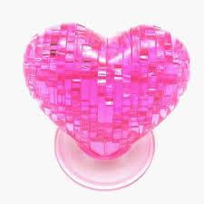 <b>3D</b> Crystal Model DIY Love Heart <b>Puzzle Jigsaw</b> IQ Toy Furnish Gift ...