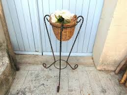 double plant stand french garden decor
