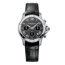 men s watches costco uk raymond weil parsifal gents black strap watch 7260 stc 00208