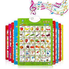 Kizaen Electronic Interactive Alphabet Wall Chart Talking Abc 123s Music Poster Best Educational Toy For Toddler Kids Fun Learning At Daycare