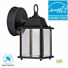 Hampton Bay Black Outdoor Led Wall Lantern In 2019 House