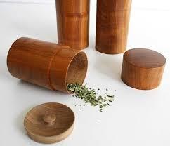 Ki-No-Sigoto Tea Containers from Japanese cherry wood,