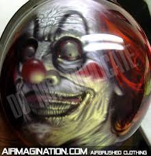 clown motorcycle helmet custom painted bike helmets