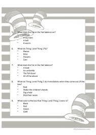 Kindergarten Dr Seuss Reading Comprehension Worksheets | Free ...