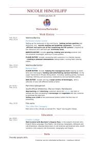waitressbarista resume samples example of a cv resume