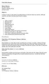 Editor Resumes Video Editor Resume Sample Job Interview Career Guide